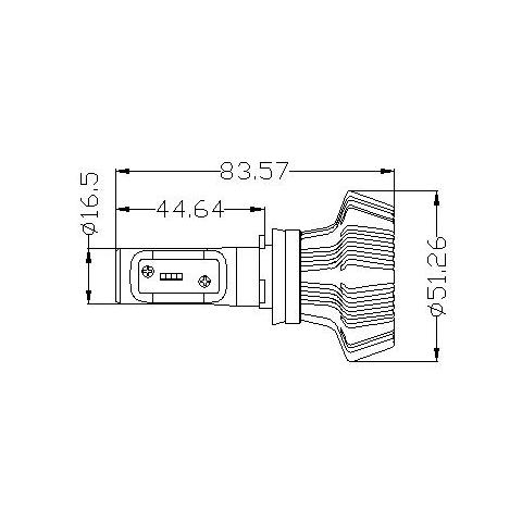 Набір світлодіодного головного світла UP-7HL-H8W-4000Lm (H8, 4000 лм, холодний білий) Прев'ю 4