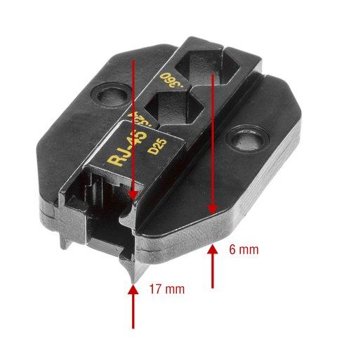 Матрица для кримпера Pro'sKit 1PK-3003D25 - Просмотр 3