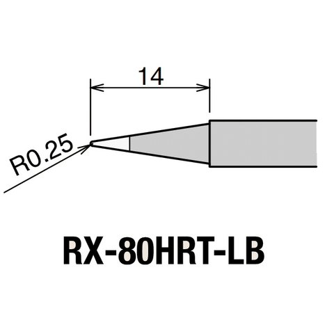 Soldering Iron Tip GOOT RX-80HRT-LB Preview 1